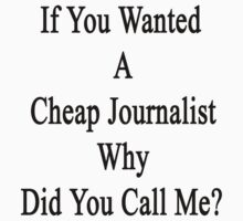If You Wanted A Cheap Journalist Why Did You Call Me?  by supernova23
