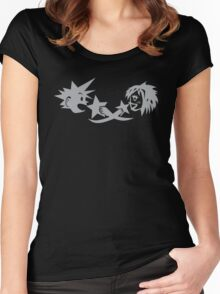 Kingdom Hearts: KairixSora Cave Etching Women's Fitted Scoop T-Shirt