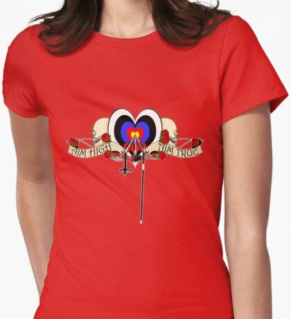Aim high, aim true Womens Fitted T-Shirt