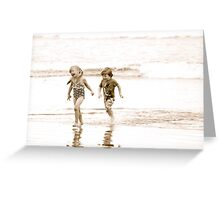 At Play in the Salt Sea Greeting Card