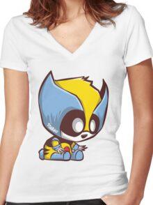 Pandarine Women's Fitted V-Neck T-Shirt