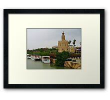 Seen from of  the Brigde. Framed Print