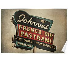 Johnnie's French Dip Vintage/Retro Sign Poster