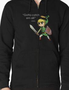 Childhood Destruction (Pokemon, Zelda, Mario) Zipped Hoodie