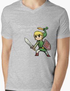 Childhood Destruction (Pokemon, Zelda, Mario) Mens V-Neck T-Shirt