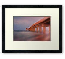 Newport Fishing Pier Framed Print