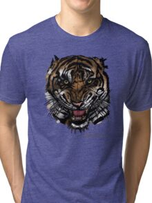 Tiger Face (Signature Design) Tri-blend T-Shirt