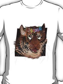 Flower Crown Tiger T-Shirt