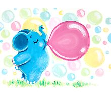 Bubbles - Rondy loves bubble gum Photographic Print