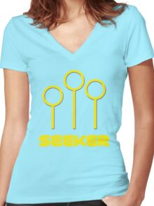 Quidditch Seeker Women's Fitted V-Neck T-Shirt