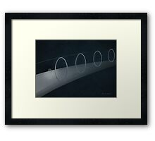 Abstract Ellipse Framed Print