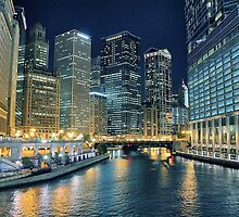 City of Chicago at Night  by picsbytabitha
