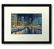 City of Chicago at Night  Framed Print