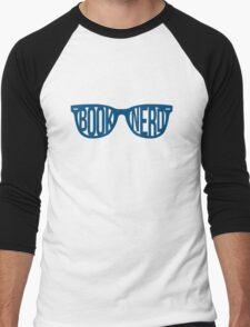 BOOKNERD GLASSES (BLUE) Men's Baseball ¾ T-Shirt