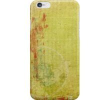Red and Green Paint on Vintage Wallpaper iPhone Case/Skin