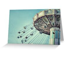 Vintage Style Carnival Swing Greeting Card