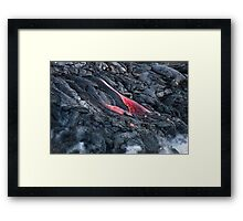 Lava Flow at Kalapana 11 Framed Print