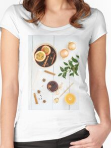 Mulled wine Women's Fitted Scoop T-Shirt