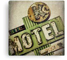 Circle K Motel Vintage Sign Metal Print
