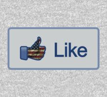 Like Button (Facebook) USA FLAG by vincepro76