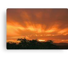 Sunset in the Storm Canvas Print
