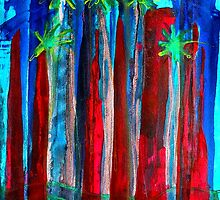 Palm Springs Nocturne original painting by CrowRisingMedia