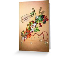 Fall, time to say Thank You Greeting Card