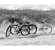 Bikes On The Beach Photographic Print