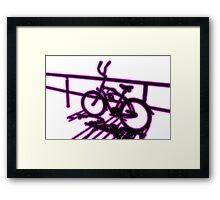 Boardwalk Bicycle Pink Framed Print