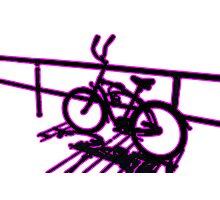 Boardwalk Bicycle Pink Photographic Print
