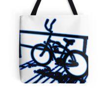 Boardwalk Bicycle Blue Tote Bag