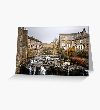 The River Ure at Hawes Greeting Card