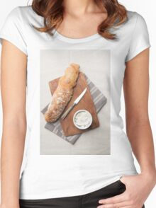Baguette bread Women's Fitted Scoop T-Shirt