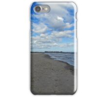 Looking Down The Beach iPhone Case/Skin