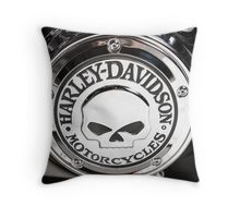 Harley Chrome 1 Throw Pillow