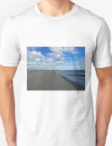 Looking Down The Beach Unisex T-Shirt