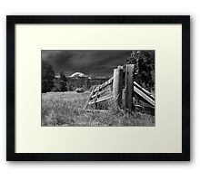 Old Fence At Mount Lassen Framed Print