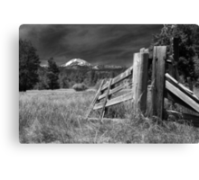 Old Fence At Mount Lassen Canvas Print