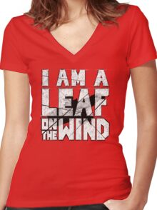 I am a leaf on the wind Women's Fitted V-Neck T-Shirt