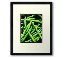 Bright Beans Framed Print