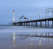Brighton Jetty Blue by Mark Cooper