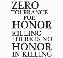 Zero Tolerance for Honor Killing by Melissa Park