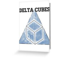 Abed's Delta Cubes Greeting Card