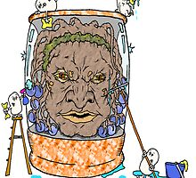 Face of Boe getting a wash by Skree