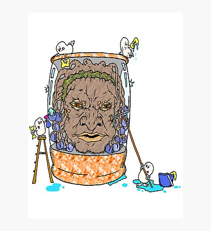 Face of Boe getting a wash Photographic Print