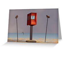 PUBLIC PHONE,MID-DAY Greeting Card