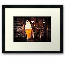 Ice Cream Stand Framed Print
