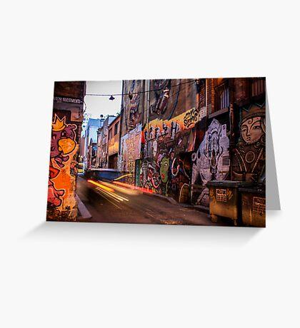 Graffiti Lane Greeting Card