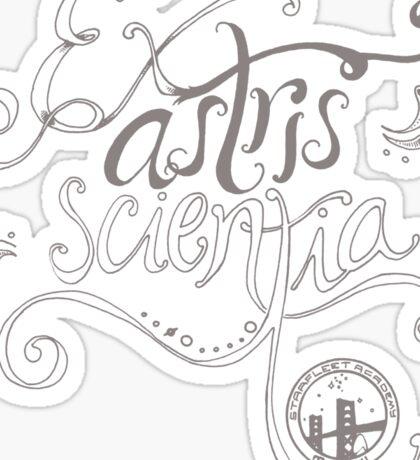 Ex astris scientia. Sticker