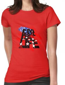 Americana Womens Fitted T-Shirt